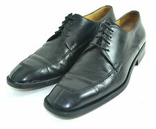 MEZLAN BLACK LEATHER MEN SHOES HIGH QUALITY MADE IN SPAIN SIZE 9 M