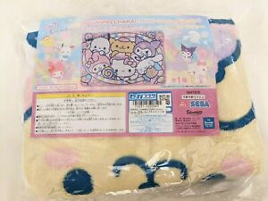 UK Sanrio Characters cotton candy fluffy blanket 140cm 100cm SEGA Japan NEW