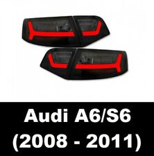AUDI A6 S6 RS6 (4F C6) SALOON 08-11 SMOKED LED REAR LIGHTS DYNAMIC INDICATORS