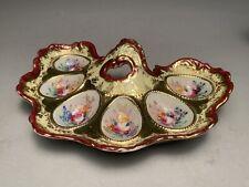 Rare Japanese Shimamura-Sei Porcelain Deviled Egg / Oyster Plate Serving Dish