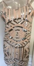 NWT! $79/C. Luce Dress. Cocktail Embellished Sequins/Multi-Colored/Gorgeous/ MED