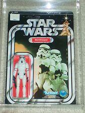 Vintage Star Wars KENNER 1978 AFA 80 STORMTROOPER ANH 12 BACK-C MOC UNP CLR BUB!