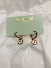 Alexa & Tori Clover Mother pearls Quatrefoil Earrings Round & Rose Gold Sterling