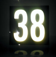 Custom Reflective house number signs / 200mm x 200mm