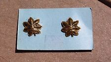 WW2 US Navy Marine Corps Major INSIGNIA COLLAR PINS Oak Leaves Sterling NORSID