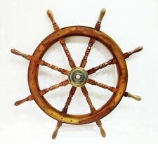 "Boat Ships Captains VINTAGE Ship Wheel 36"" Wooden Decorative Wall Hanging Decor"