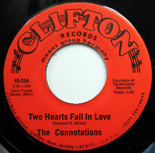 CONNOTATIONS 45 Two Hearts Fall In Love / Before I Go NEAR MINT Doo Wop e6748