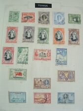 TONGA nice older mint & used collection on 4 pages. good cat val check scans