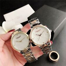 Hot Women's stainless steel Analog Letter Bump C Wristwatches