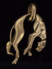 Antique Pendant Miniature Sculpture Gold Gilt Panther