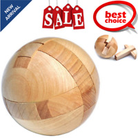 Wooden Sphere Puzzle Ball Brain Teasers Toy Intelligence Game For Adults/Kids