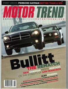 Motor Trend Magazine August 2005 Charger Meet Mustang Mercedes R-Class Hummer H3