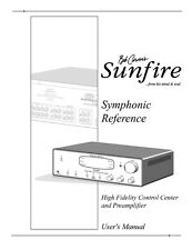 Carver Sunfire Symphonic preamp Amplifier Owners Manual