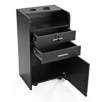 Beauty Rolling Drawer Cabinet Trolley Cart Lock Salon Storage Barber Equipment