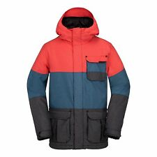 2017 NWT MENS VOLCOM CAPTAIN INSULATED SNOWBOARD JACKET $270 L fire red blue