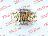 PERSONALIZED 14K GOLD GP  NAME RING DOUBLE 3D W/ HEART (ANY NAME UP TO 7 LETTERS