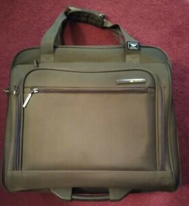 Delsey Olive Carry On Rolling Underseat Tote Luggage Bag ~ Lots of Compartments