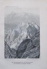 Benesch: Hirschbühelkamm Mairbergscharte - Originaldruck aus 1910 alter Druck