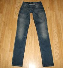 Blue JEANS LEVI'S San Francisco ZIP STRETCH sbiadito SLIM Skinny Jeans W 25 L 33