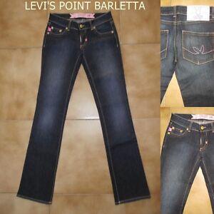 Jeans Playmate 53 Stretch Donna A Zampa D'elefante Svasato Azzurro TG. W27-28-29