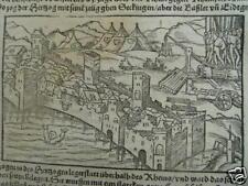 Augusta Raurica, S.Münster Holzschnitt von 1580 bei Augst, Basel
