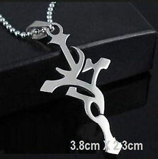 Men's Woman's Cross Necklace Silver Stainless Pendant 60cm Chain
