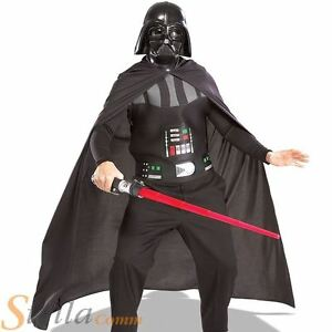 Adult Darth Vader Star Wars Halloween Fancy Dress Costume Kit & Lightsaber