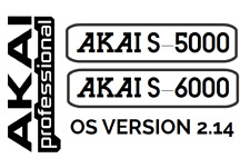 AKAI S5000 S6000 Operating System Floppy Boot Disk OS Ver 2.14 S-5000 S-6000
