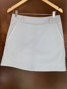 Puma Golf Women's SIZE 4 Dry Cell Pounce Skirt US Glacier Grey EUC