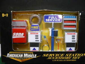 ERTL AMERICAN MUSCLE SERVICE STATION ACCESSORY SET 1/18TH SCALE DIECAST NIB