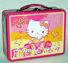 HELLO KITTY Sanrio Japanese Anime TIN TOTE TOOL WORK HOBBY SNACK LUNCH BOX New