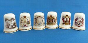 Thimbles - Royal Coronation Commemorative Thimbles from Victoria to George VI