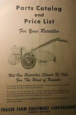 Rototiller Frazer Tractor Parts Catalog, Accessories & Price List 24p (2 Manuals