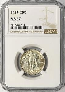 1923 25c Standing Liberty Quarter NGC MS67