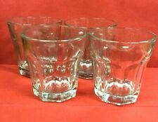 4 Anchor Hocking Sure Guard Heavy Juice Clear Glasses 6Oz Restaurant Cocktail