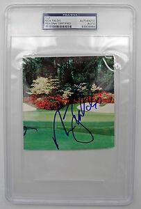 "NICK FALDO Autograph SIGNED CARD ""GOLDEN BELL"" AUTHENTIC PSA/DNA 6 MAJORS LEGEND"