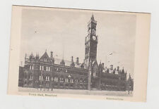 TOWN HALL,BRADFORD. OLD PRINTED POSTCARD.SEE PICTURE