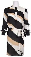 New Gucci Women's $1,750 Silk Georgette Zebra Print Shirt Dress 38 2 XS
