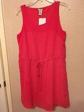 Pink Sleeveless Tie Waist Lined Career Dress M NWT