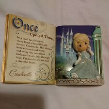 Disney Cinderella Storybook Figure 3D Ball Gown Blue Sparkle Great Condition