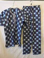 African Ethnic Clothing Men's 2 Piece Pant Suit Short Sleeve handmade