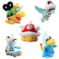 Super Mario Plush Winged  Dry Bones Magikoopa Kamek Mecha Koopa Spiny Doll Toys