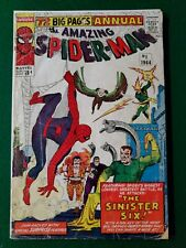 Amazing Spider-man Annual 1 1964 original no back cover Sinister Six!