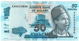 Malawi banknote 50 Kwacha 2012 P58a UNC A96