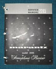 Marantz Model 2245 Service Manual, Schematics, Part Numbers,Bias Adjustments, .