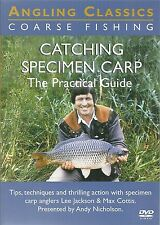 CATCHING SPECIMEN CARP DVD THE PRACTICAL GUIDE