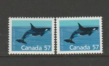 Canada 1988/93 Animal defs 57c Both listed papers UM/MNH SG 1271 & 1271a