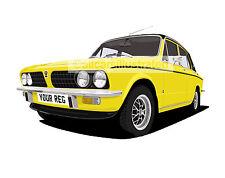 TRIUMPH DOLOMITE SPRINT CAR ART PRINT (SIZE A3). PERSONALISE IT!