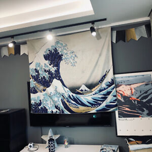 Wall Hanging Tapestry Great Wave Off Kanagawa Tapestry Room Home Wall Decor