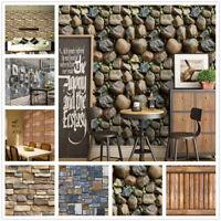 3D Brick Stone Wall Stickers Vinyl Self Adhesive Wallpaper Roll Living Room 10M